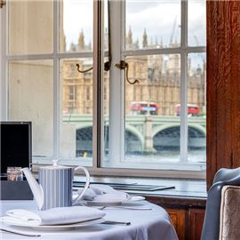 Afternoon Tea overlooking Big Ben and the Houses of Parliament